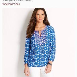 BNWT VINEYARD VINES Sea Urchin Print Tide Blue Med